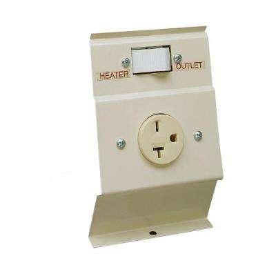F Series Almond Baseboard Load-Transfer 240 Volt Heater to Outlet Switch Kit