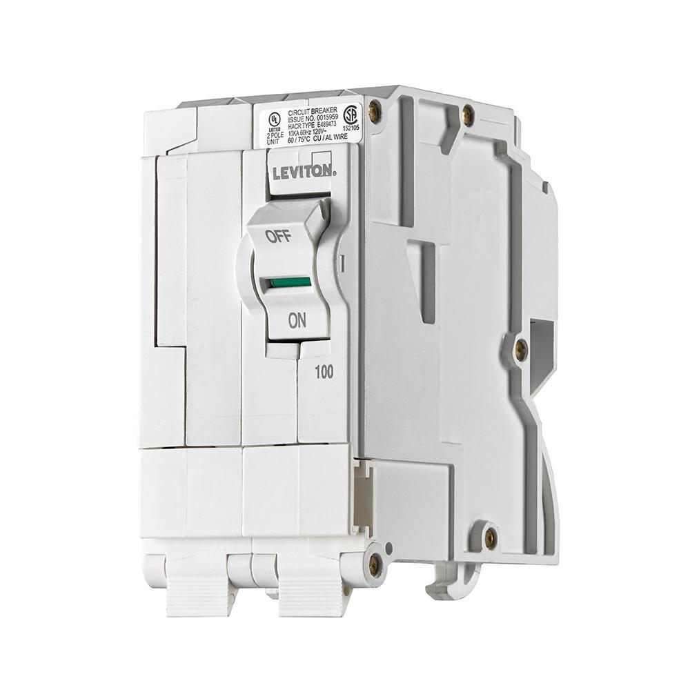 100 Amp, 2-Pole Plug-On Standard Branch Circuit Breaker, 120/240 VAC