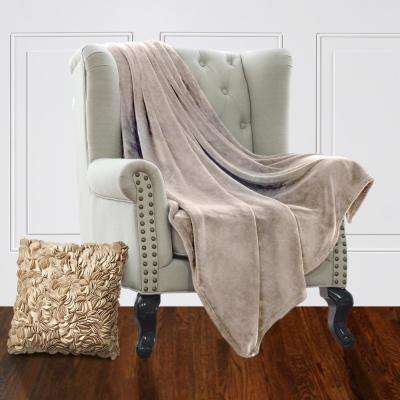 Jill Morgan Tan Plush Velvet Queen Blanket