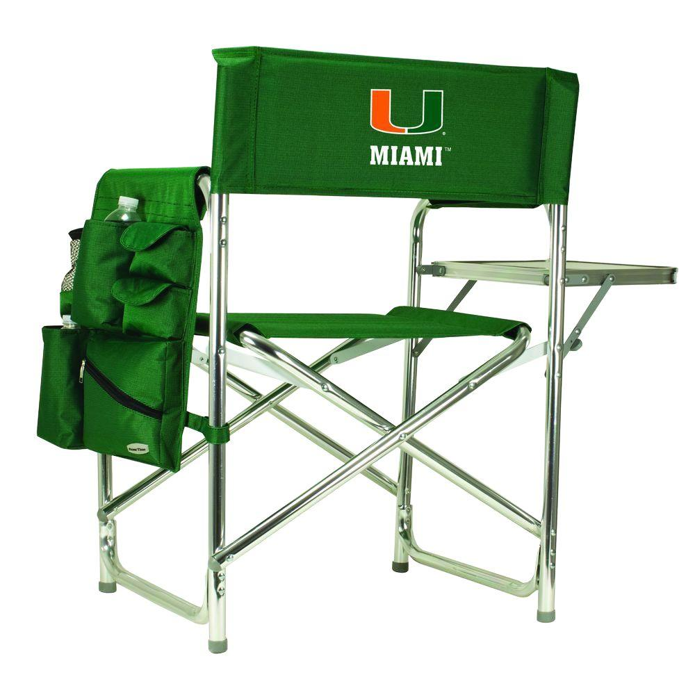 Charmant Picnic Time University Of Miami Hunter Green Sports Chair With Embroidered  Logo