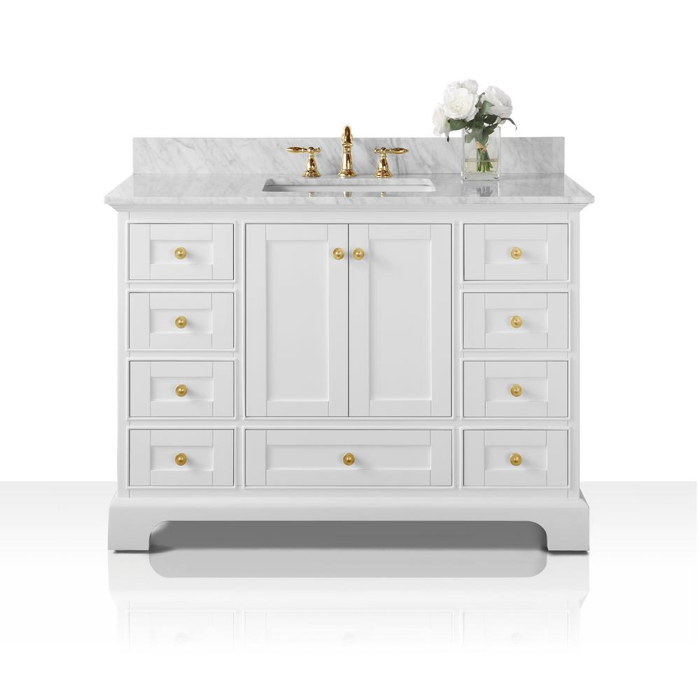 48 in. W x 22 in. D Vanity in White with