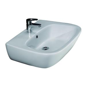 Home Depot Wall Mount Sink elanti wall-mounted square bathroom sink in white-ec9868 - the