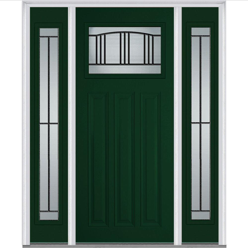 MMI Door 60 in. x 80 in. Madison Left-Hand Craftsman 1/  sc 1 st  The Home Depot & MMI Door 60 in. x 80 in. Madison Left-Hand Craftsman 1/4 Lite ... pezcame.com