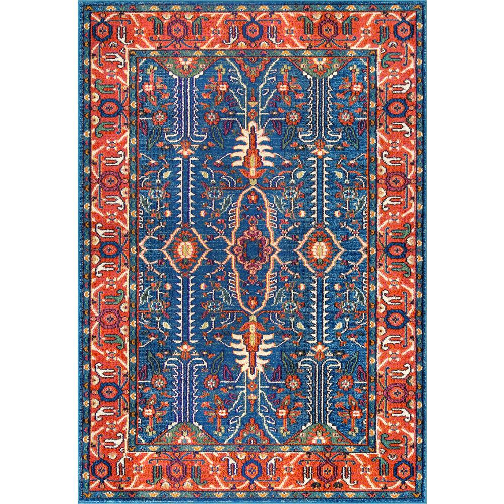 NuLOOM Vintage Medallion Veronica Aqua 9 Ft. X 12 Ft. Area