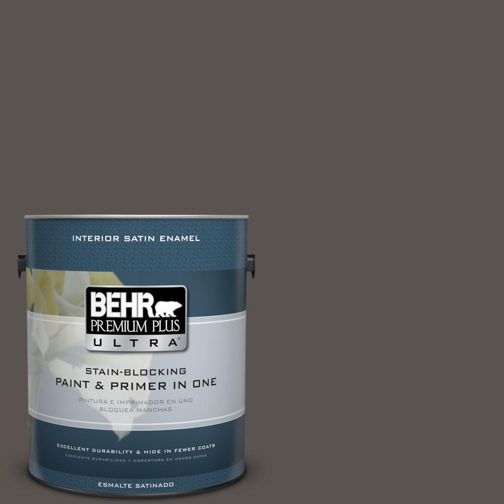 1-gal. #BXC-23 Catskill Brown Satin Enamel Interior Paint