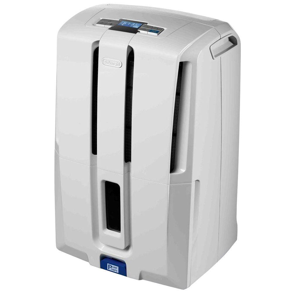 DeLonghi 70-Pint Dehumidifier with Patented Pump