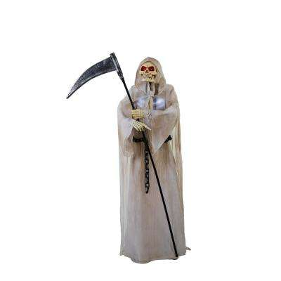 72 in. Animated Grim Reaper Holding Scythe with LED Eyes