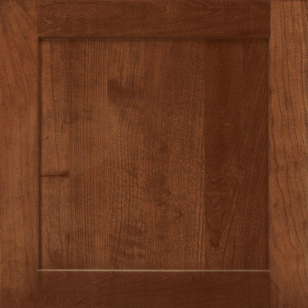 American Woodmark 14-9/16x14-1/2 in. Cabinet Door Sample in Townsend Cherry Spice