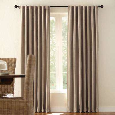 Room Darkening Window Panel in Taupe - 54 in. W x 84 in. L