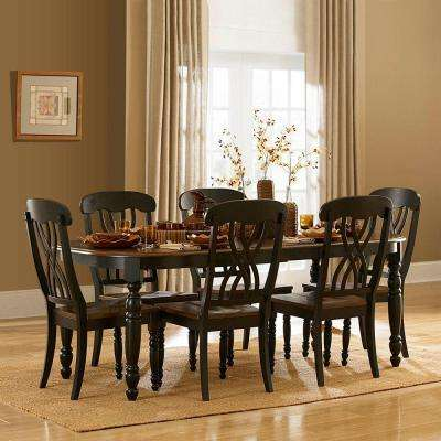 Anna Antique Black Extendable Dining Table