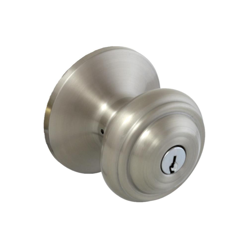 Madrid Satin Nickel Keyed Entry Door Knob