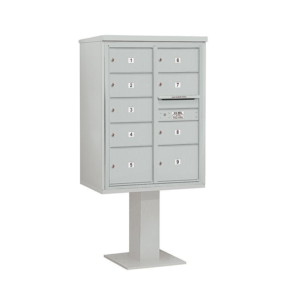3400 Series 69-1/8 in. 11 Door High Unit Gray 4C Pedestal