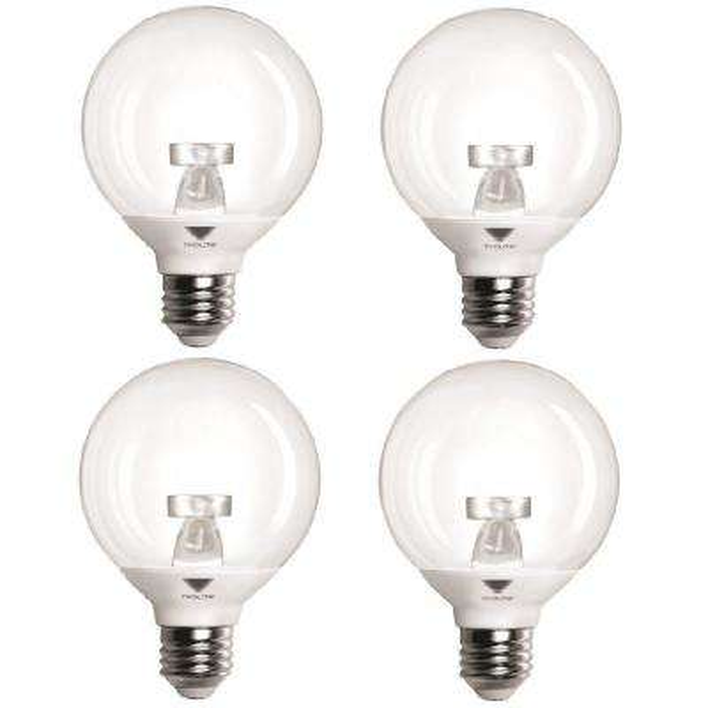 40-Watt Equivalent G25 Dimmable LED Vanity Globe LED Light Bulb Cool White (4-Pack)