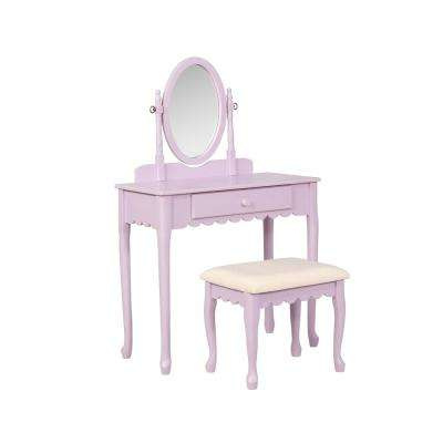 2-Piece Ellie Lilac Youth Vanity Set