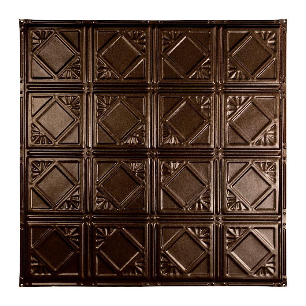 Ludington 2 ft. x 2 ft. Nail-up Tin Ceiling Tile in Bronze Burst