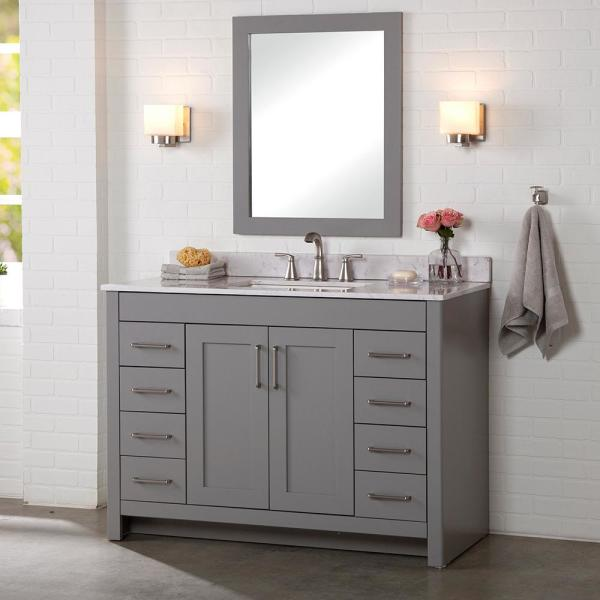 Home Decorators Collection Westcourt 48, What Size Mirror Goes With A 48 Inch Vanity