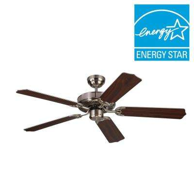 Homeowner Max 52 in. Brushed Steel Silver Ceiling Fan