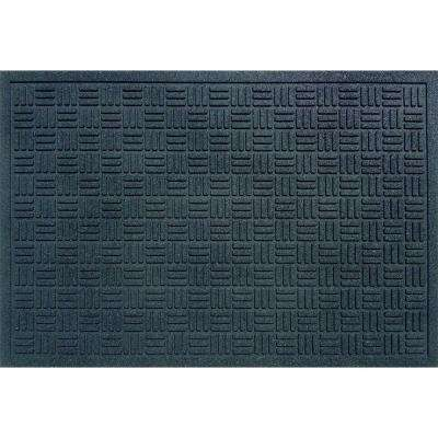 Black 24 in. x 36 in. Recycled Rubber Commercial Door Mat