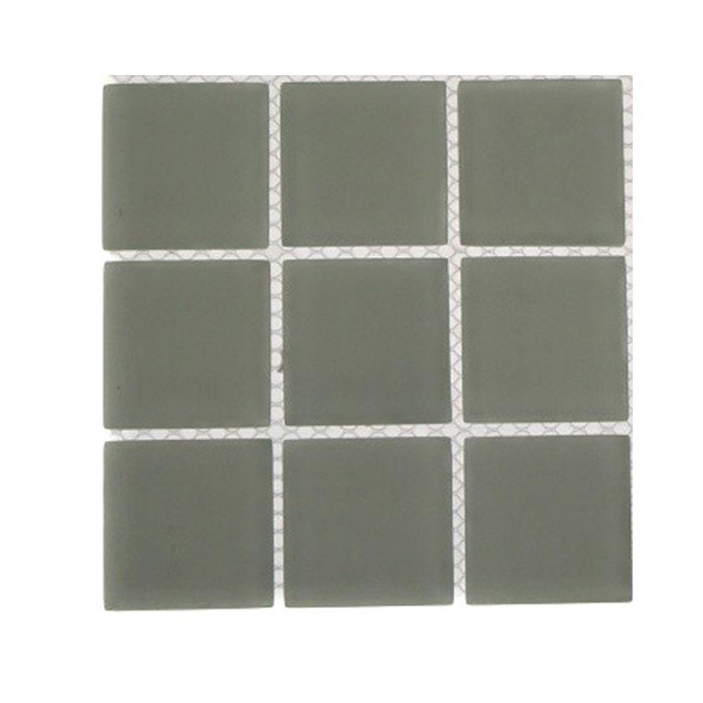 Splashback tile contempo natural white frosted glass tile - Frosted glass backsplash ...