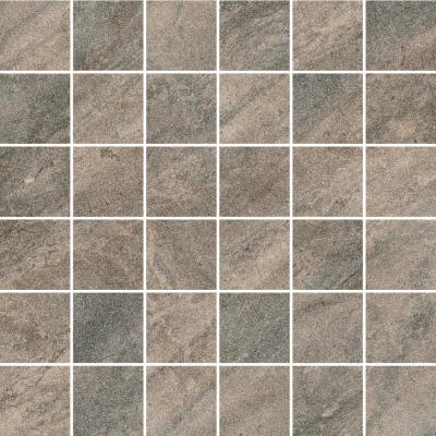 Caledonia Graphite 12 in. x 12 in. x 8.5 mm Porcelain Mosaic Tile