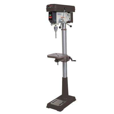 3/4 HP 15 in. Floor Standing Drill Press with Worklight, 16-Speed, 115-Volt, J-2500