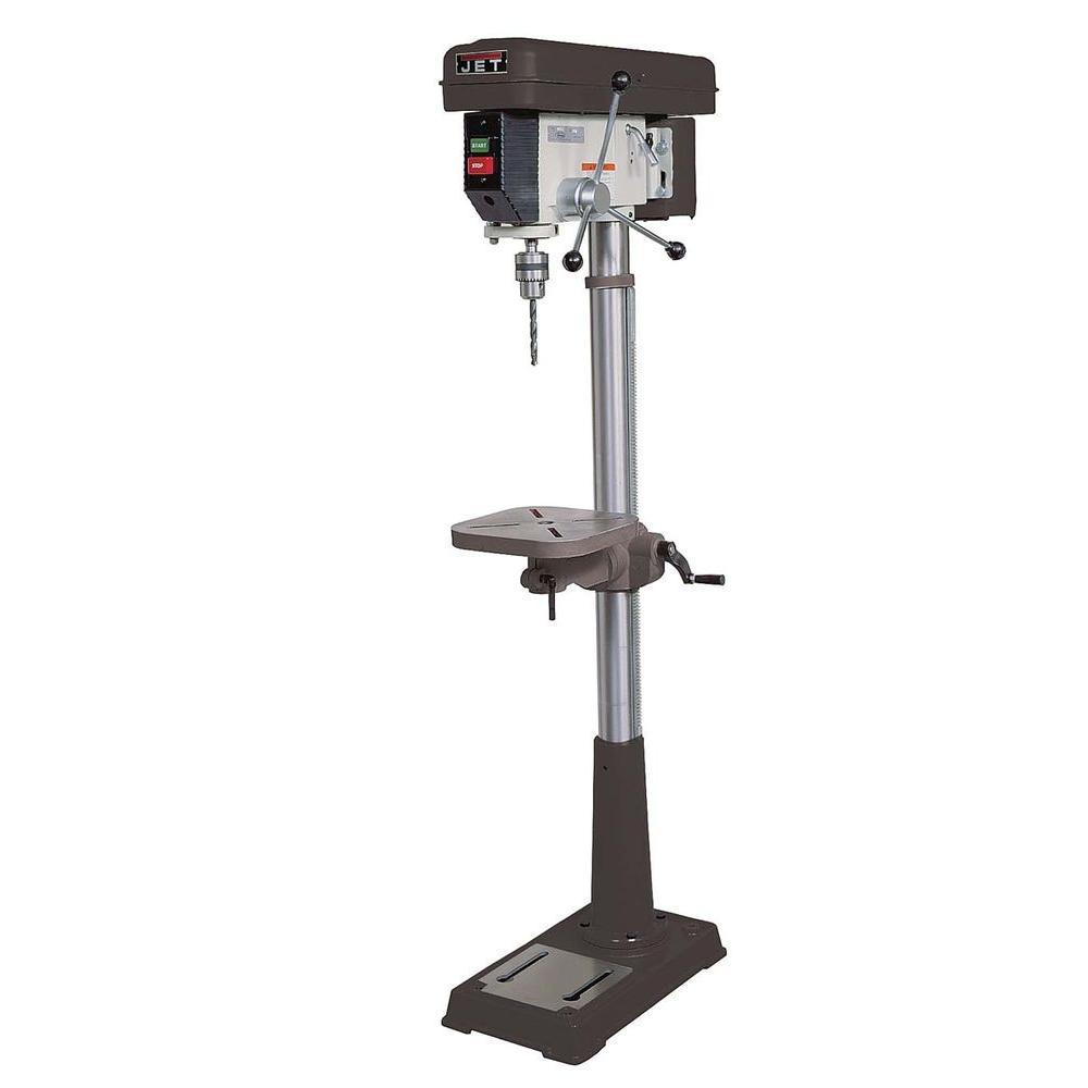 3/4 HP 15 in. Floor Standing Drill Press with Worklight, 16-Speed, 115-Volt, J-2500