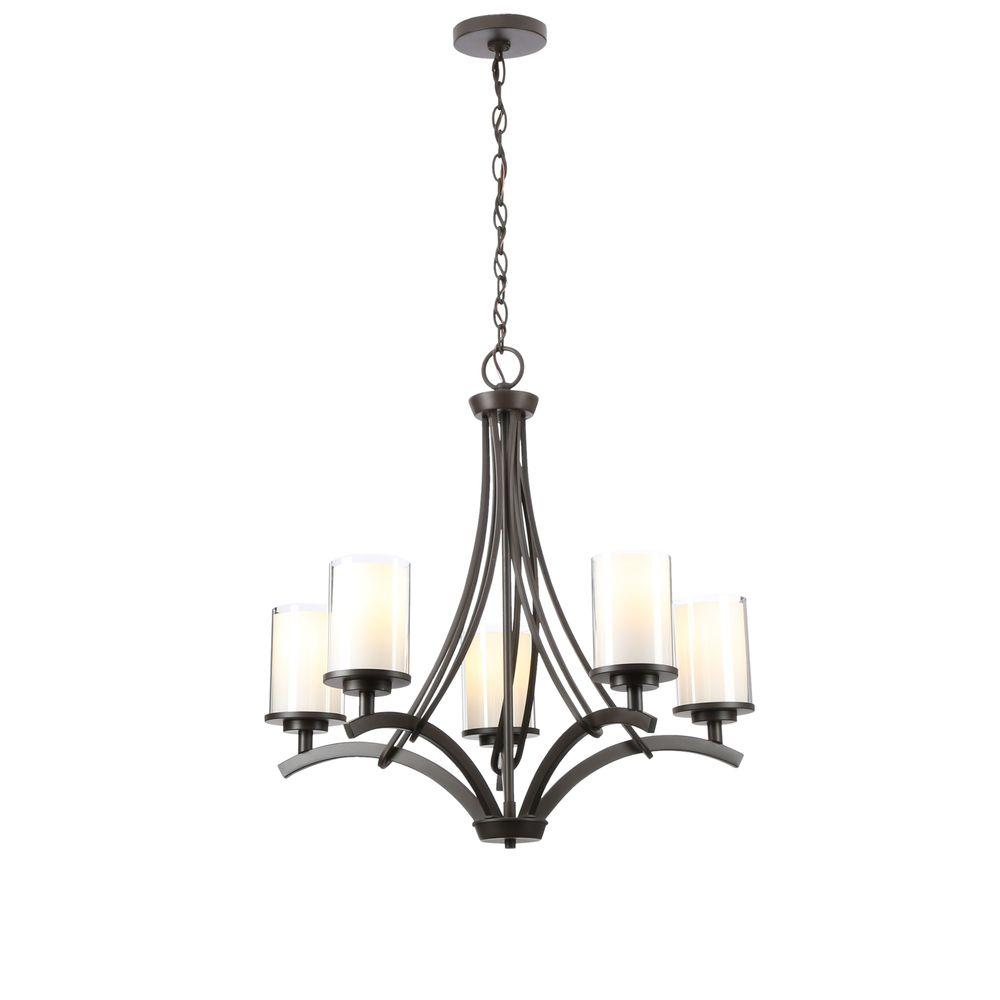 oil rubbed bronze chandelier hampton bay 5 light rubbed bronze ceiling chandelier 28615