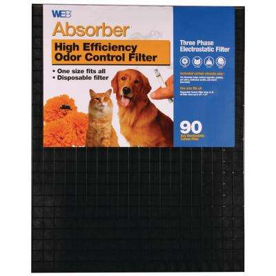20 in. x 25 in. x 1 in. Absorber Odor Control FPR 5 Air Filter