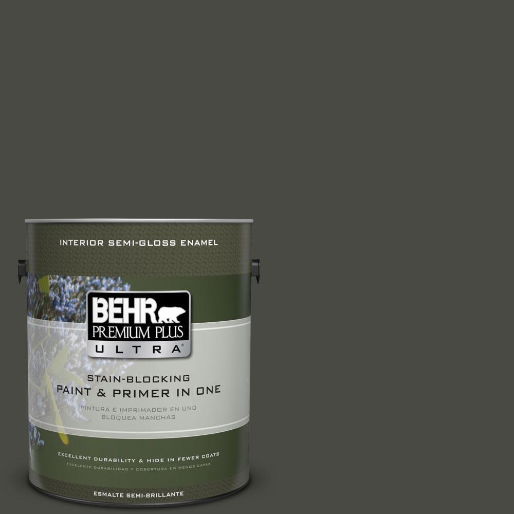 BEHR Premium Plus Ultra 1-gal. #ECC-47-3 Twilight Forest Semi-Gloss Enamel Interior Paint