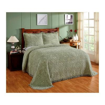 Wedding Ring 102 in. X 110 in. Queen Sage Bedspread