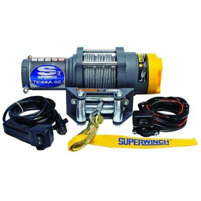 Terra Series 25 12-Volt ATV Winch with 4-Way Roller Fairlead and 10 ft. Remote