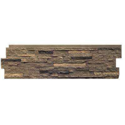 Stacked Stone Volcanic Gray 13.25 in. x 46.5 in. Faux Stone Siding Panel (5-Pack)