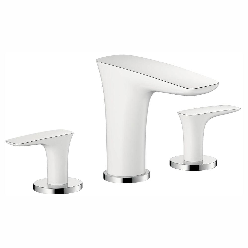 PuraVida 8 in. Widespread 2-Handle Low-Arc Bathroom Faucet in Chrome