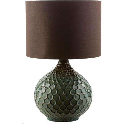 Amici 22.5 in. Dark Green Indoor Table Lamp