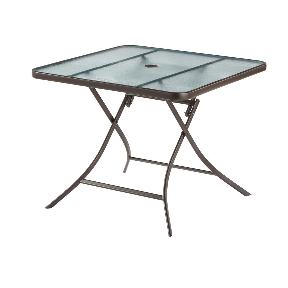 Hampton bay mix and match metal outdoor dining table