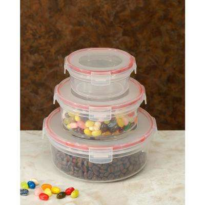 6-Piece Lock and Seal Round Food Storage Container