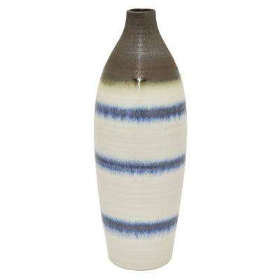 16.5 in. White Ceramic Vase