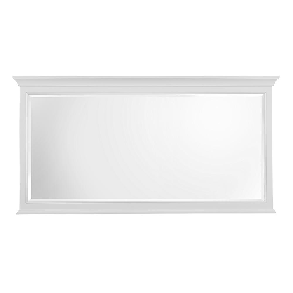 Home Decorators Collection Moorpark 60 in. W x 31 in. H Single Framed Wall Mirror in White