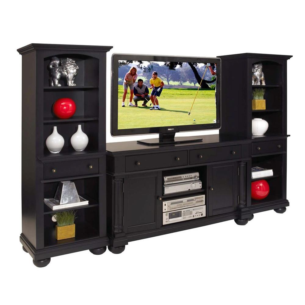 Home Styles St. Croix Entertainment TV Stand and Two Pier Cabinets (3-Piece)-DISCONTINUED