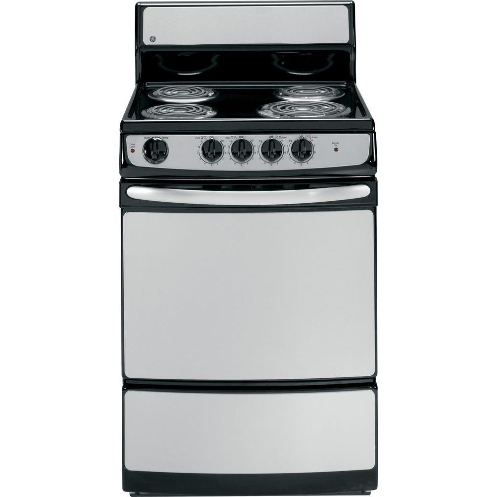 GE 24 in. 3.0 cu. ft. Electric Range in Stainless Steel