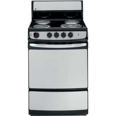 24 in. 3.0 cu. ft. Electric Range in Stainless Steel
