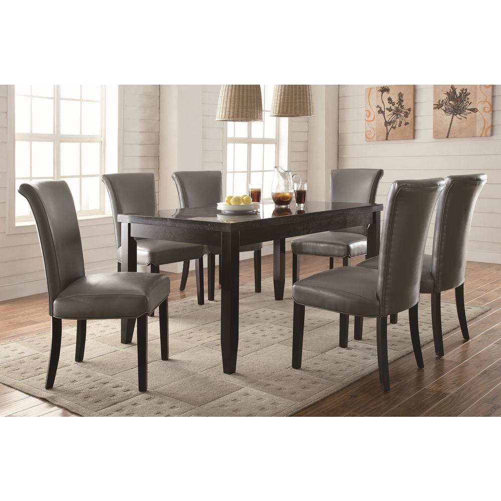 Coaster newbridge collection metal dining chair set of 2 for Furniture coasters home depot