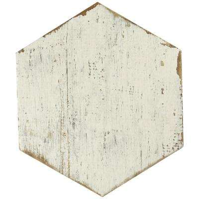 Retro Hex Blanc 14-1/8 in. x 16-1/4 in. Porcelain Floor and Wall Tile (10.76 sq. ft. / case)
