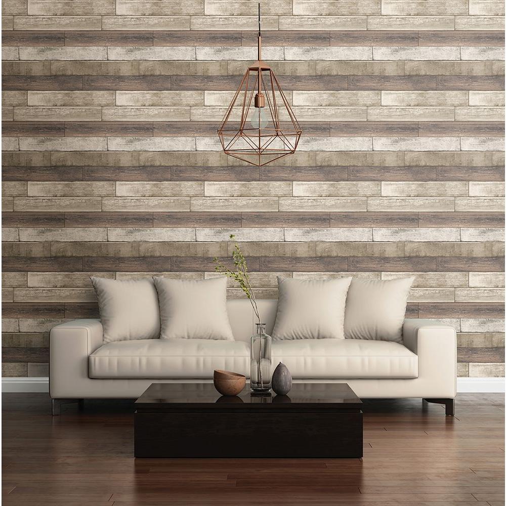 Rust Weathered Plank Wood Texture Wallpaper Sample