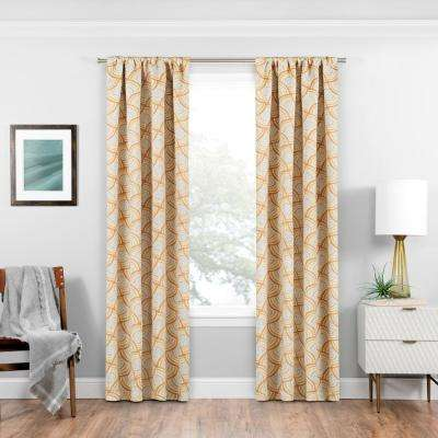 Blackout Benchley 63 in. L Gold Rod Pocket Curtain
