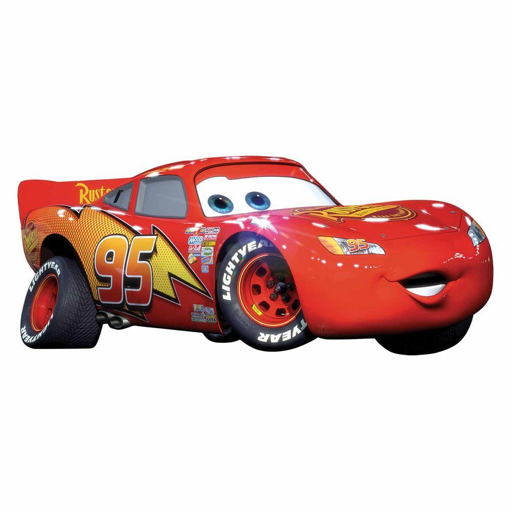 Cars Lightening McQueen 4-Piece Peel and  sc 1 st  Home Depot & RoomMates 5 in. x 19 in. Cars Lightening McQueen 4-Piece Peel and ...