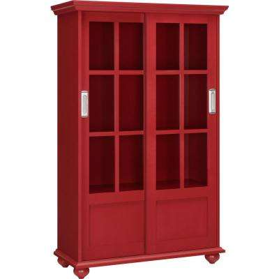 Abel Place Red Glass Door Bookcase