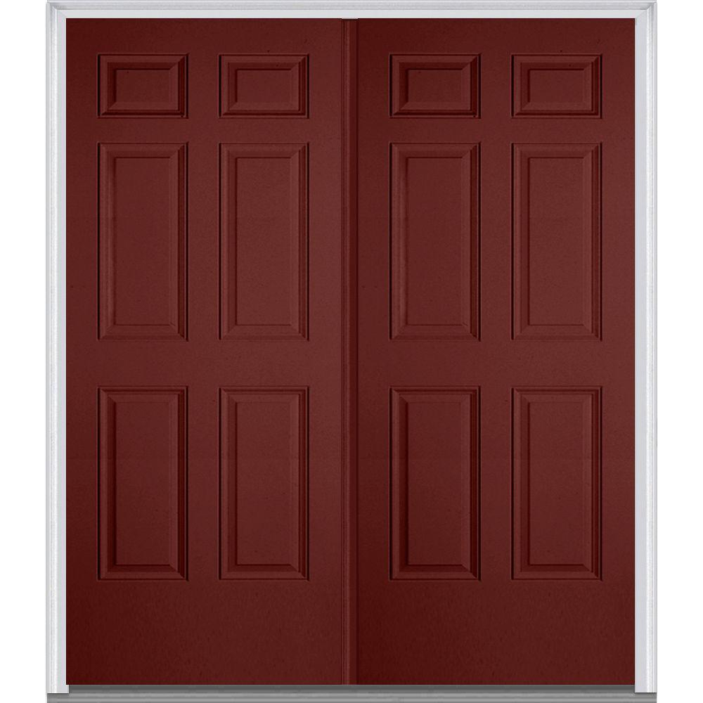 MMI Door 60 in. x 80 in. Left-Hand Inswing 6-Panel  sc 1 st  The Home Depot & MMI Door 60 in. x 80 in. Left-Hand Inswing 6-Panel Classic Painted ... pezcame.com