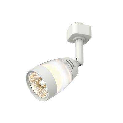 Frosted Middle Gl 1 Light White Linear Track Lighting Head
