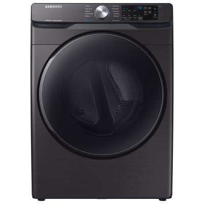 7.5 cu. ft. Black Stainless Electric Dryer with Steam